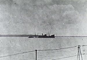SS Portmar (1919) - Portmar beached after attack on Darwin.