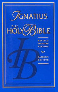 Revised Standard Version Catholic Edition translation of the Bible including the deuterocanonical books
