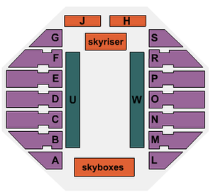 Sioux Falls Arena - Image: SF Arena Seating