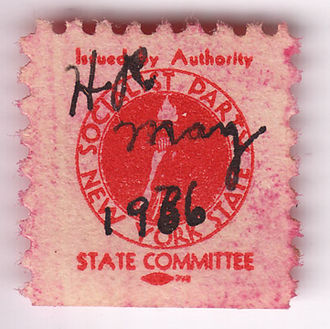 Social Democratic Federation (United States) - The Socialist Party of New York issued its own dues stamps for several months during the first half of 1936.