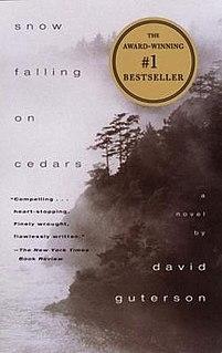 <i>Snow Falling on Cedars</i> 1994 novel by David Guterson