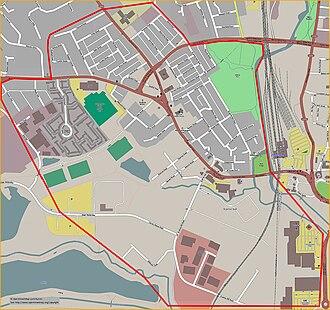 St. James End, Northampton - Image: St James, Northampton, England street map