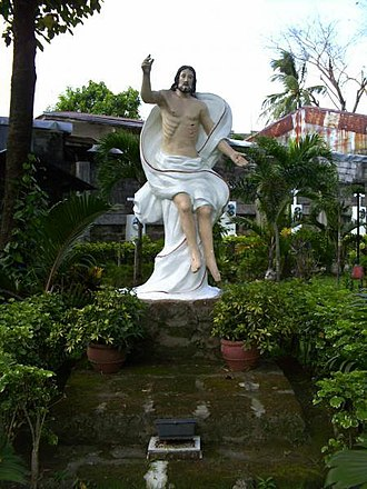 San Carlos Seminary - A statue of the Ascencion of Our Lord in San Carlos Seminary.