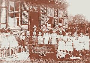 White Brazilians - Students and teachers at a German school in Blumenau, 1866