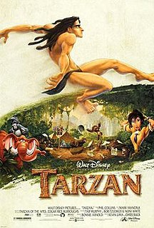 <i>Tarzan</i> (1999 film) 1999 American animated adventure musical film produced by Walt Disney Feature Animation