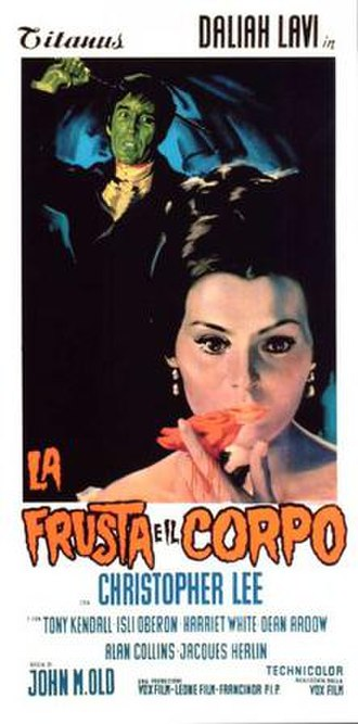 The Whip and the Body - Italian film poster for The Whip and the Body