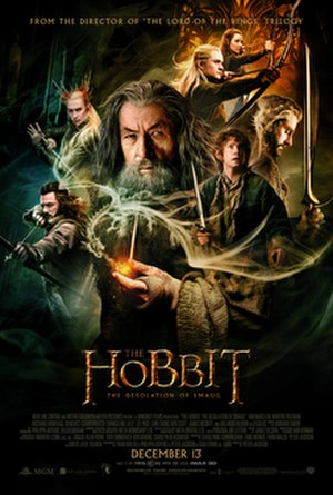 The Hobbit: The Desolation of Smaug - Theatrical release poster