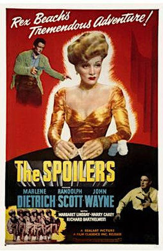The Spoilers (1942 film) - Image: The Spoilers 1942 Poster