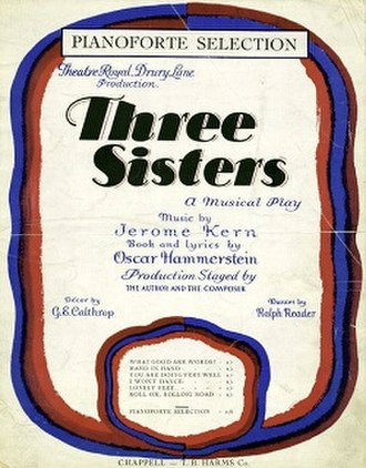 Three Sisters (musical) - Original sheet music cover