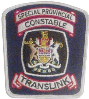 South Coast British Columbia Transportation Authority Police Service - Former TransLink SPCs Shoulder Patch