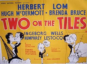 Two on the Tiles - British quad poster