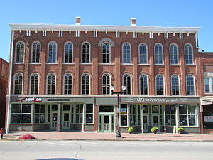 Mount Pleasant, Iowa - The historic Union Block building.