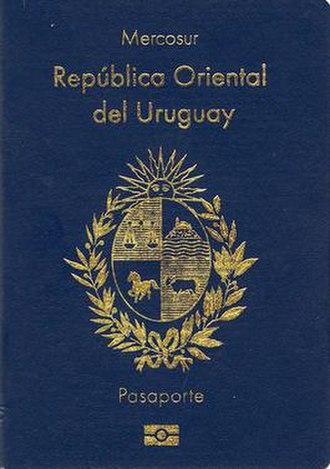 Uruguayan passport - Uruguayan passport front cover