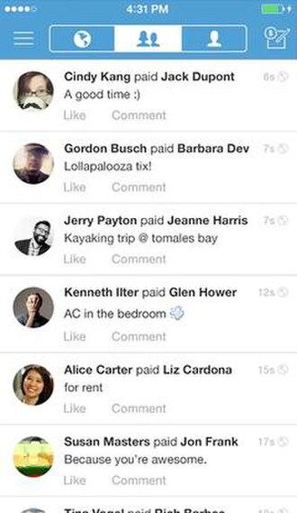 Venmo - Image: Venmo payment newsfeed