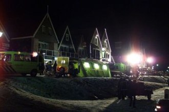 Volendam New Year's fire - Rescue operations after the fire