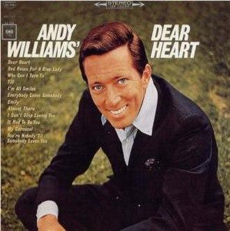 Andy Williams' Dear Heart - Image: Williams Dear 2
