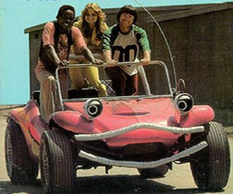 The Krofft Supershow - Wonderbug, with (left to right) C.C., Susan, and Barry