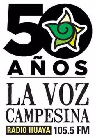XHFCE-FM - Image: XHFCE La Voz Campesina 105.5 logo