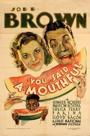 You Said a Mouthful - Theatrical release poster