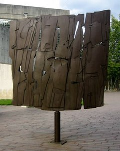 'Conversation with the Wind', steel sculpture by Pietro Consagra, 1962, Museum of Fine Arts, Houston