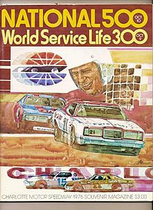 This is a souvenir magazine from the 1976 running of the National 500.