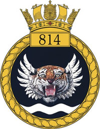 814 Naval Air Squadron - 814 NAS badge