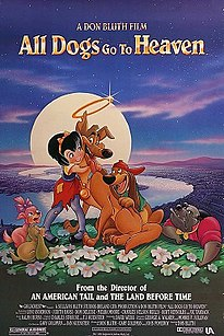<i>All Dogs Go to Heaven</i> 1989 animated film directed by Don Bluth