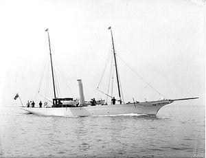 Amazon (yacht) - Amazon circa 1910