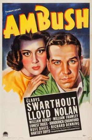 Ambush (1939 film) - Theatrical release poster