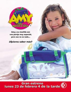 Amy, la niña de la mochila azul - Image: Amylaninadelamochila azul poster