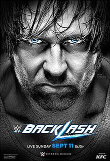 Backlash (2016) 2016 WWE pay-per-view and WWE Network event