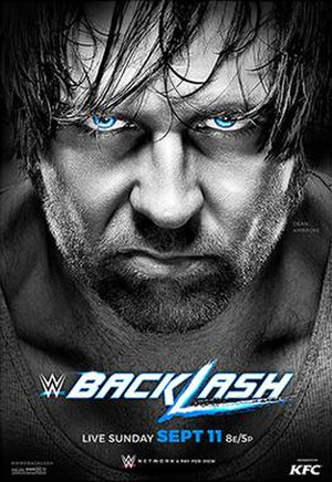 Backlash (2016) - Promotional poster featuring Dean Ambrose