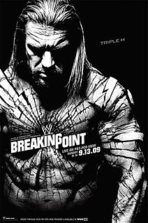 WWE Breaking Point 2009 World Wrestling Entertainment pay-per-view event