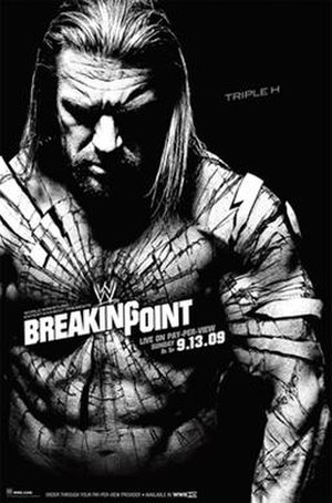 WWE Breaking Point - Promotional poster featuring Triple H