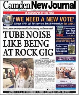 <i>Camden New Journal</i> British Newspaper