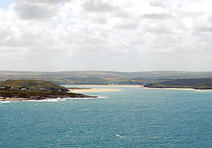 River Camel - The estuary of the River Camel seen from Pentire Point with Trebetherick Point in the foreground.