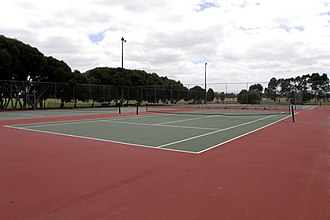 Carrum Downs, Victoria - Tennis courts at the Recreation Reserve