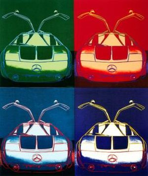 Cars (painting) - Image: Cars art work by Andy Warhol 1986