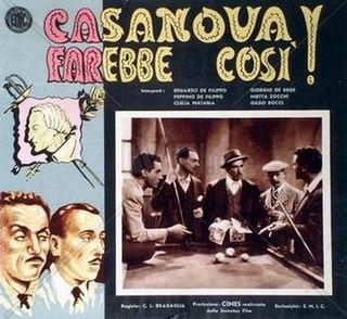 <i>After Casanovas Fashion</i> 1942 film by Carlo Ludovico Bragaglia