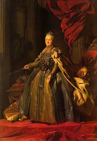 Enlightened despotism - Image: Catherinethegreatros lin