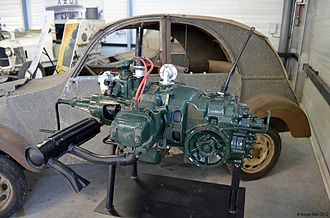 Citroën 2CV - Water-cooled engine from the TPV
