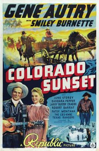 Colorado Sunset - Theatrical release poster