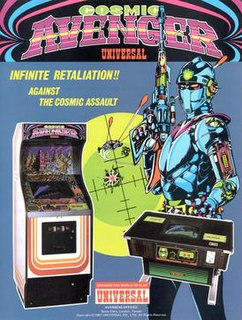 <i>Cosmic Avenger</i> Sidescrolling shooter arcade game from 1981