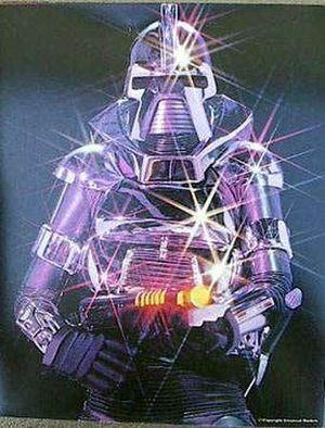 Cylon (1978) - A publicity illustration of one of the original 1978 Cylon Centurions.
