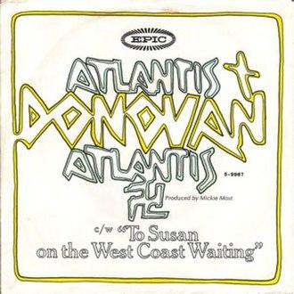 Atlantis (Donovan song) - Image: Donovan Atlantis (song)