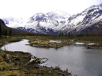 Eagle River (Cook Inlet) - View of the Chugach Mountains near the Eagle River Nature Center.