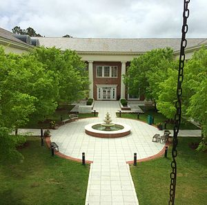 Coastal Carolina University - The fountain and courtyard of the Edwards College