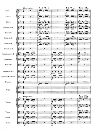 Page of musical score for full orchestra