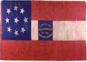1st Arkansas Infantry Regiment - Image: Flag of the Jackson Guards, Museum of the Confederacy