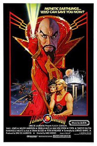 Flash Gordon (film) - Theatrical release poster by Richard Amsel